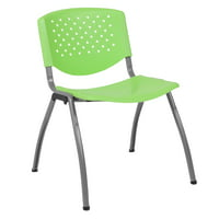 Lancaster Home HERCULES Series 880 lb. Capacity Plastic Stack Chair with Titanium Frame