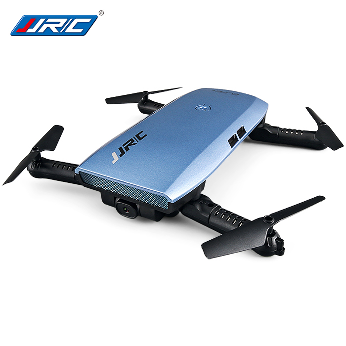 JJRC H47 ELFIE+ Foldable WiFi FPV 720P HD  RC Pocket Selfie Drone, Quadcopter - RTF - Blue Standard Version
