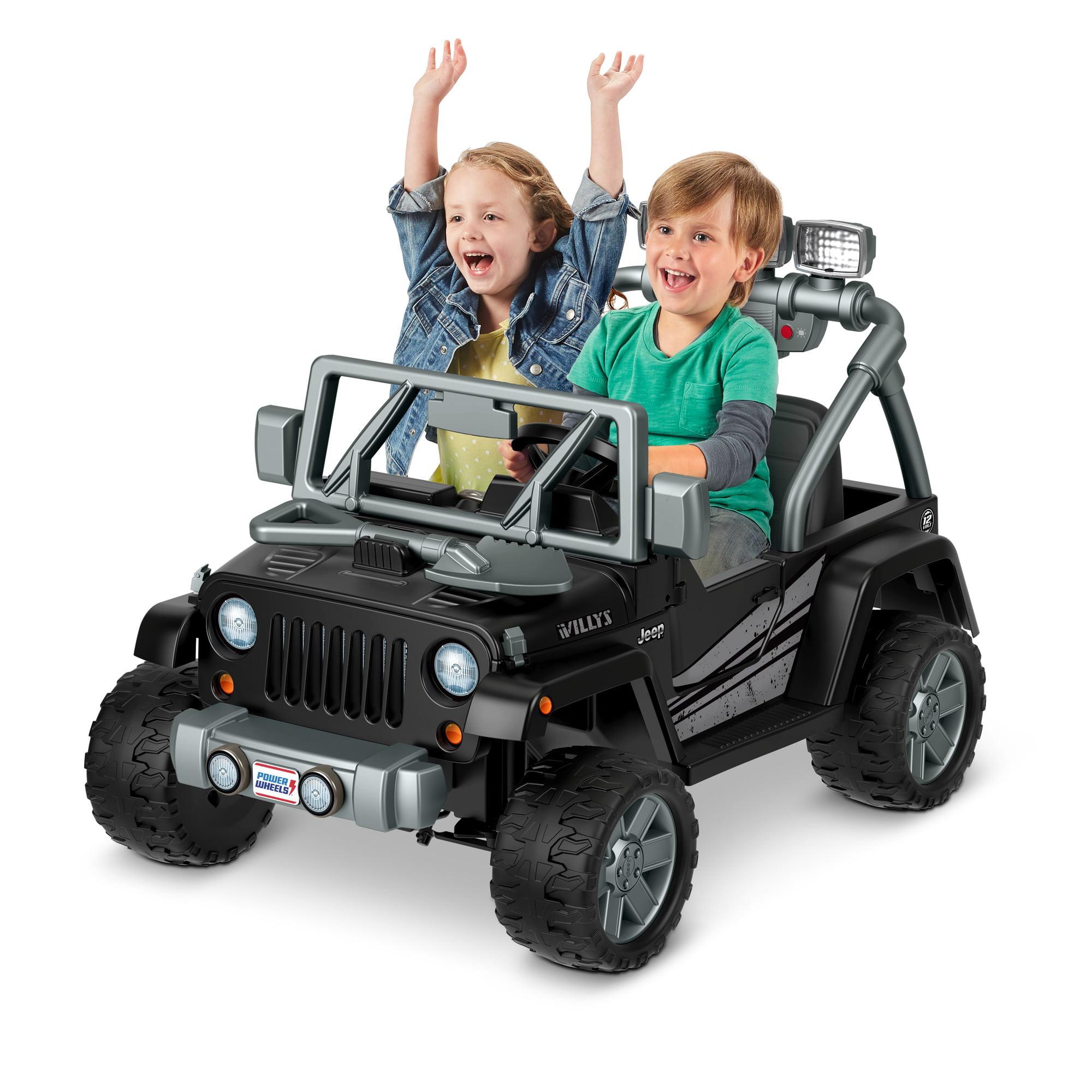 Jeep Wrangler Wheels >> Power Wheels Jeep Wrangler Willys Ride On Vehicle Walmart Com
