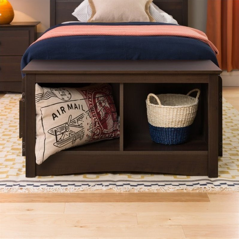 Prepac Twin Cubby Entryway Storage Bench, Multiple Finishes