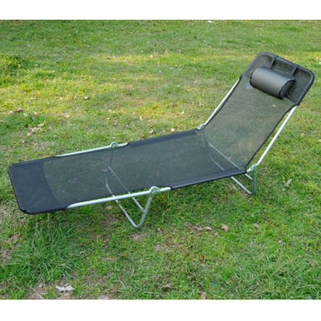 Outsunny-Folding-Beach-Chaise-Lounge-Pool-Reclining-Chair-Black