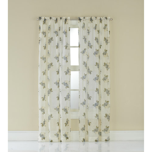 CHF & You Waterlilly Scroll Curtain Panel / Valance