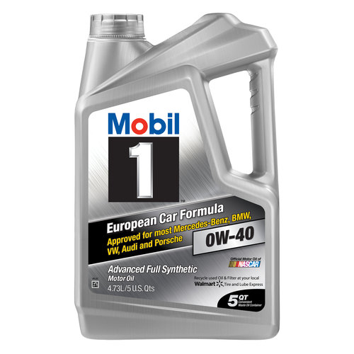 Mobil 1 0W-40 Advanced Full Synthetic Motor Oil, 5 qt.