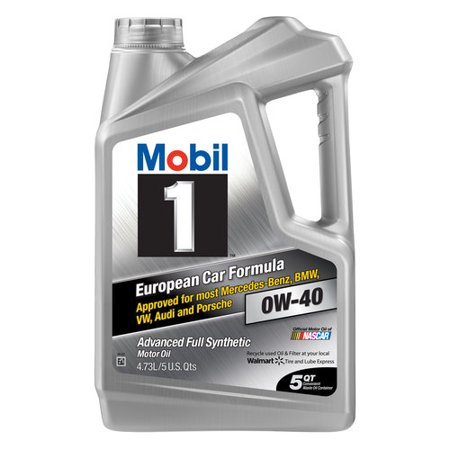 Mobil 1 Advanced Full Synthetic Motor Oil 0W-40, 5 qt.