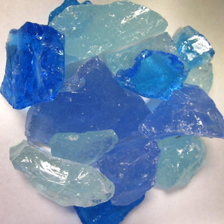 Hiland Bahama Blend Recycled Fire Glass, 10 lbs