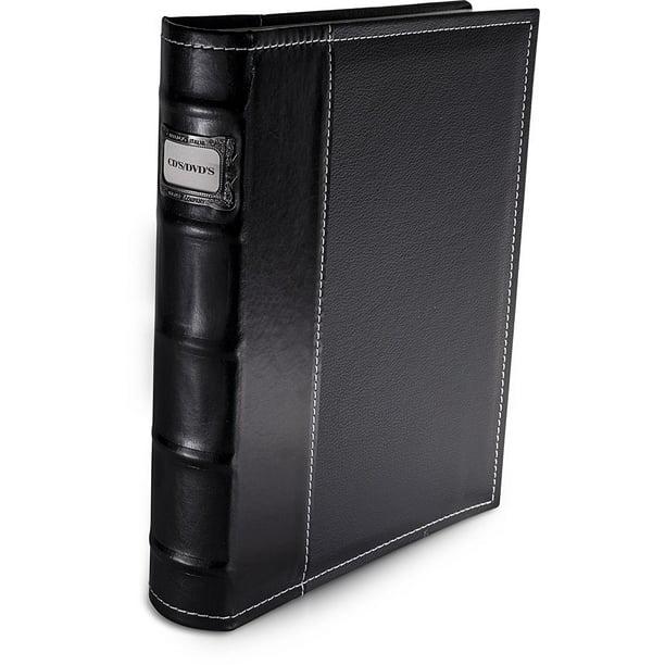 Bellagio-Italia CD/DVD Storage Binder (Black), Authentic