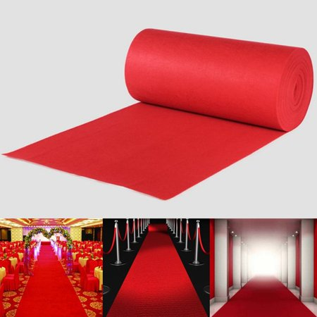 Moaere 65/32ft Large Red Carpet Wedding Aisle Floor Runner Hollywood Party - Cheap Aisle Runners