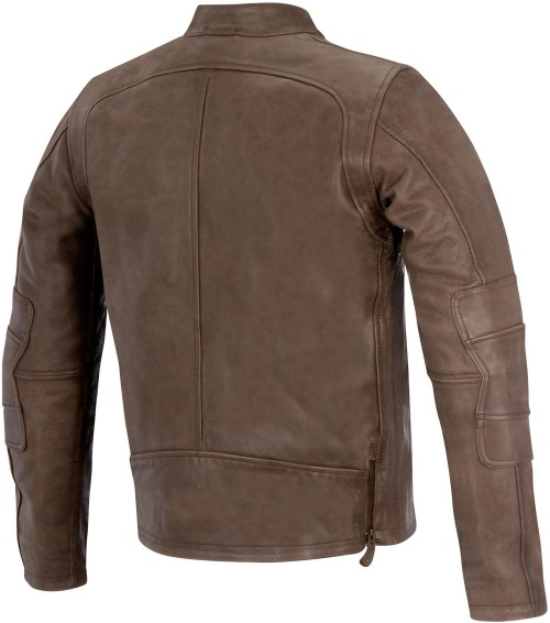 Milwaukee Mens Retro Sporty Scooter Crossover Jacket Brown, XX-Large