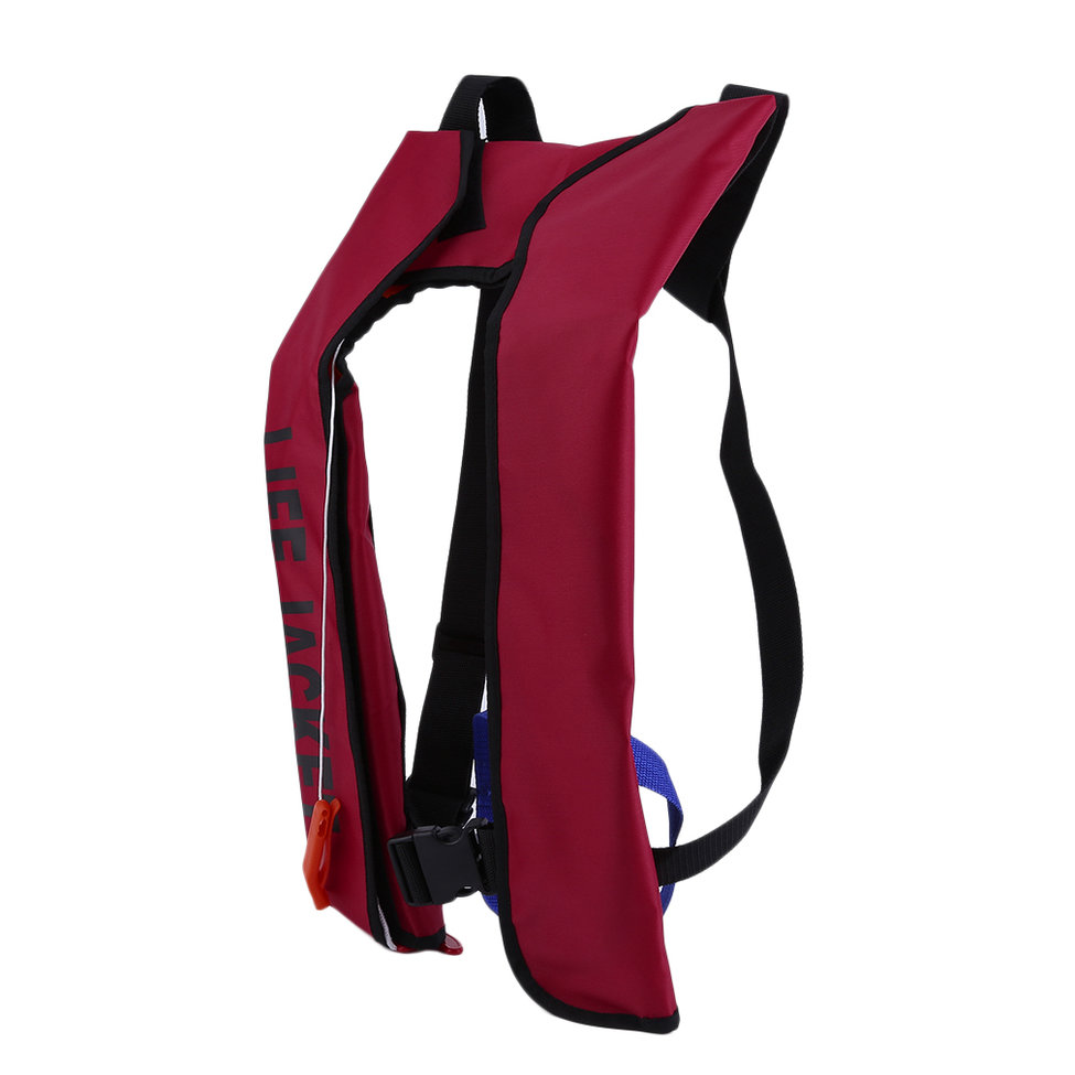 Upgrade Water Saving Vest Life Jacket for Sports Adults Kid Automatic Inflatable Life Jacket Life Saving Vest Red On... by konxa
