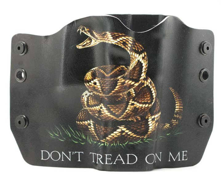 Outlaw Holsters: Don't Tread On Me Black OWB Kydex Gun Holster for SIG Mosquito, Right Handed. by Outlaw Holsters