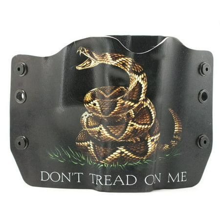 Outlaw Holsters  Dont Tread On Me Black Owb Kydex Gun Holster For Taurus Pt 140 111 Gen 1  Right Handed