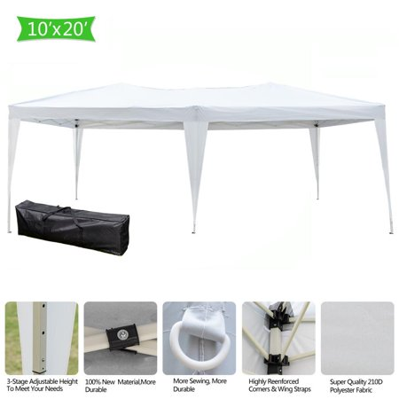 031b18098c Ktaxon 10x20ft EZ Pop UP Wedding Party Tent Folding Gazebo Canopy Heavy Duty/  Carry Case - Walmart.com