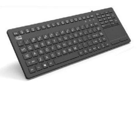 - Adesso Akb-270ub Antimicrobial Waterproof Touchpad Keyboard - Cable - Black - Usb - 108 Key - English [us] - Touchpad - Home, Email, Back, Forward, Play/pause, Stop, Next Track, Previous (akb-270ub_2)
