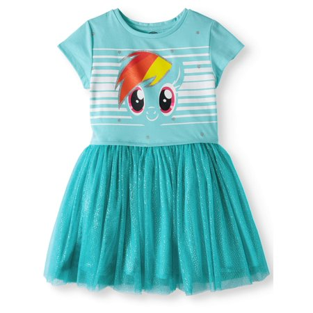 My Little Pony Foil Mesh Dress (Little Girls and Big (Best Type Of Dress For My Body Shape)