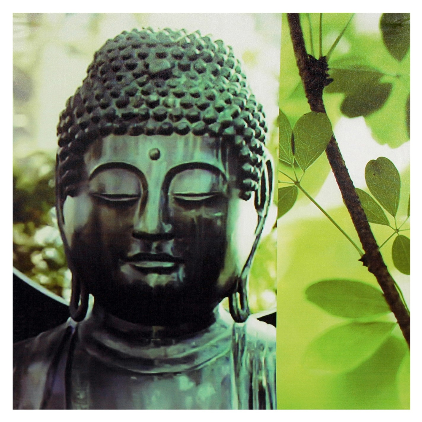 Oriental Home Outdoor Buddha Canvas Wall Art