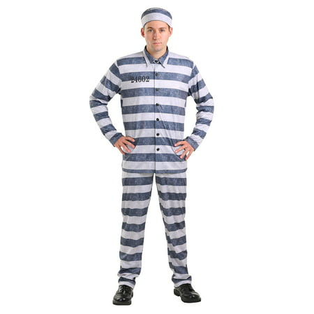 Plus Size Vintage Prisoner Costume for Men - Mens Prisoner Costume