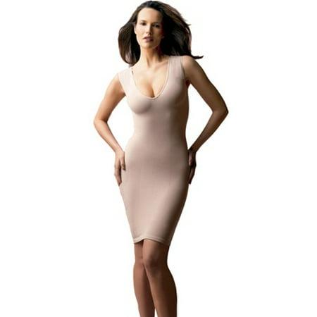 11b4a3eecb Cass Luxury Shapewear - Women s Cass Luxury Shapewear V-Neck Dress Slip -  Walmart.com