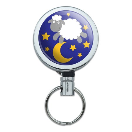 Counting Sheep Jumping Over The Moon Retractable Belt Clip Badge Key (California Competition Works Moon Clip Belt Holder)
