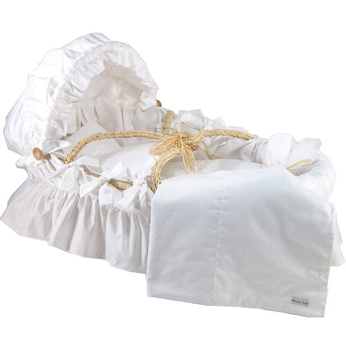 Wendy Anne Egyptian-Quality Cotton Moses Basket Blanket by
