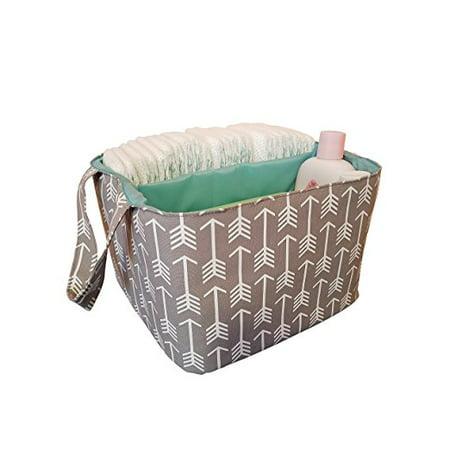 Danha Diaper Storage Caddy Grey with White Arrow Pattern - Walmart.com