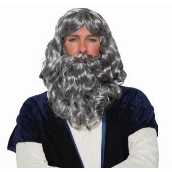 WIG/BEARD-BIBLICAL-GRAY - Grey Beard And Wig