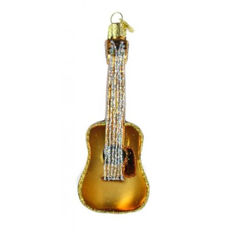 Old World Christmas Guitar Glass Blown Ornament