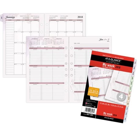 at a glance day runner nature 3 in 1 weekly planner refill size 4