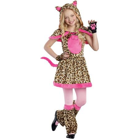 Cattitude Girls' Child Halloween Costume, Medium