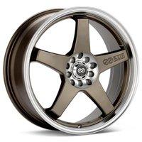 Enkei EV5 17x7 4x100 4x114.3 45mm Bronze w/ Machined Lip Wheel