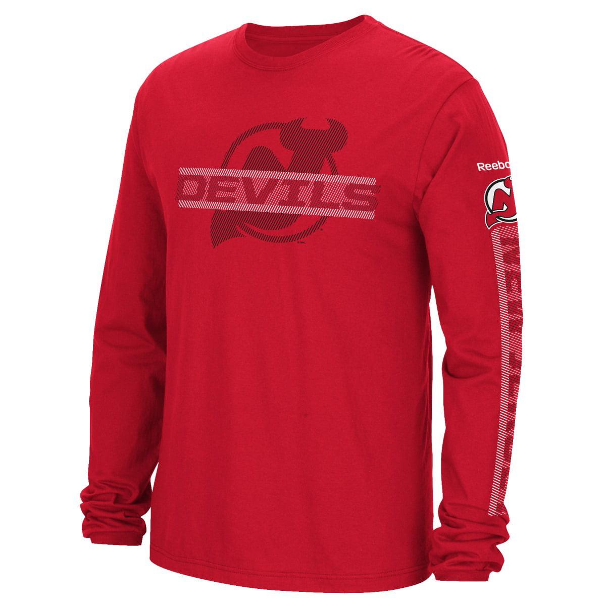 "New Jersey Devils Reebok NHL Men's ""Lineup"" Long Sleeve T-Shirt by Reebok"