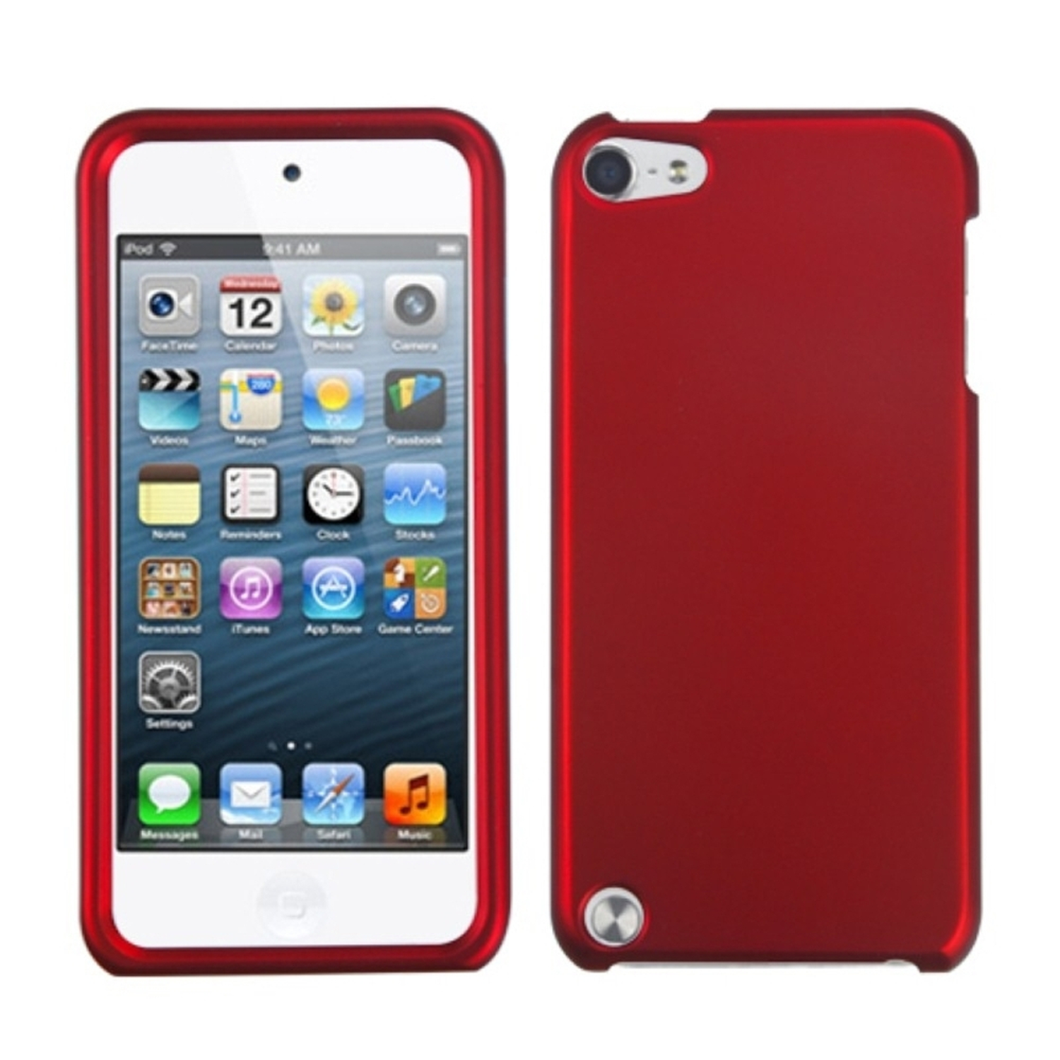 Insten Titanium Solid Red Phone Case for APPLE: iPod touch (5th 6th Gen 5 6)