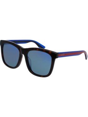 458e0e8f83d7 Product Image GG0057SK 004 Havana Blue Frame   Blue Lenses