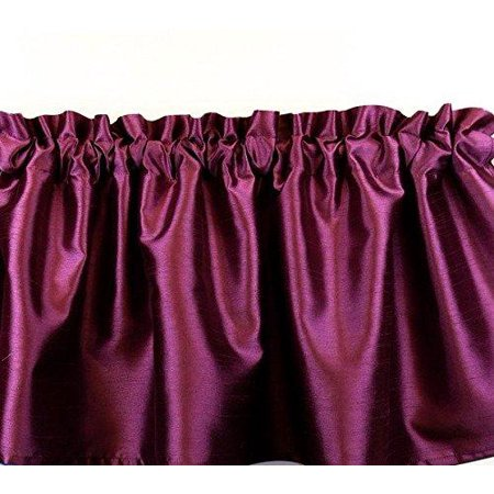Faux Silk Dupioni Window Valance