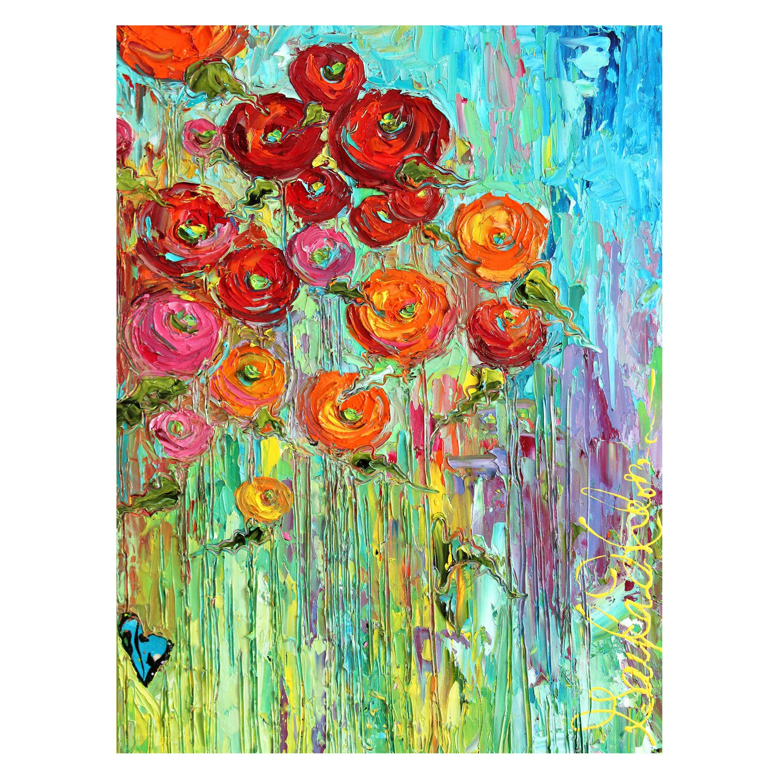 West Of The Wind Poppies #6 Outdoor Canvas Wall Art