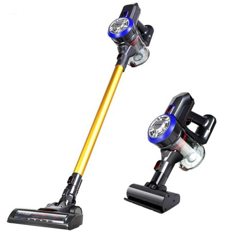 Vacuum Cleaner, Dibea 2 in 1 Lightweight Cordless Stick Vacuum and Handheld Car Vacuum for Hard Floor, Carpet,Stair, 9000pa Powerful Suction and (Best Vacuum Cleaner For Stairs And Pets)