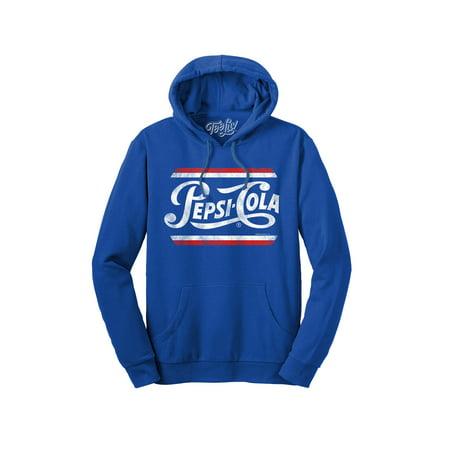 Tee Luv Hooded Pepsi Sweatshirt - French Terry Pepsi Hoodie Hooded Terry Sweater