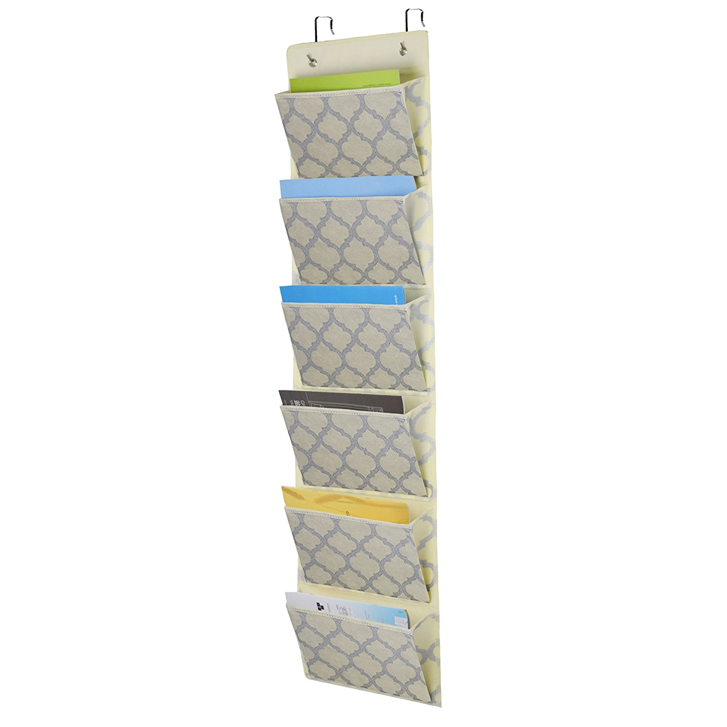 Over The Door Hanging File Organizer, Office Supplies Storage Folder Holder  Wall Mount For Home
