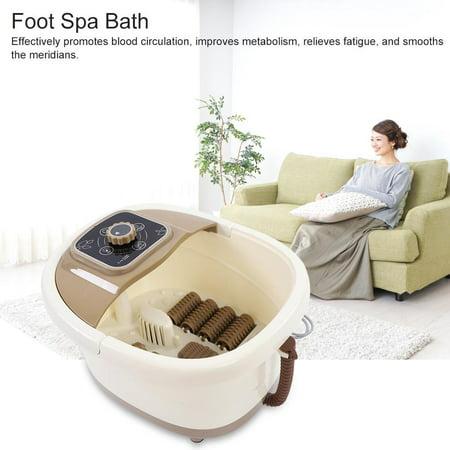 Portable Foot Spa Bath Massager Bubble Heat Soaker Vibration Pedicure Soak Tub US Plug 110V,Foot Massager,Pedicure