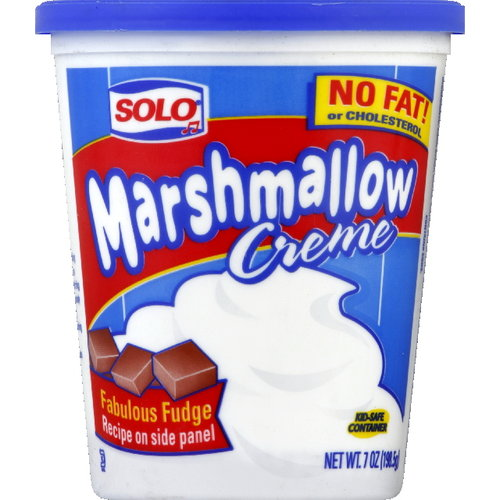 Solo Marshmallow Creme, 7 oz (Pack of 12)