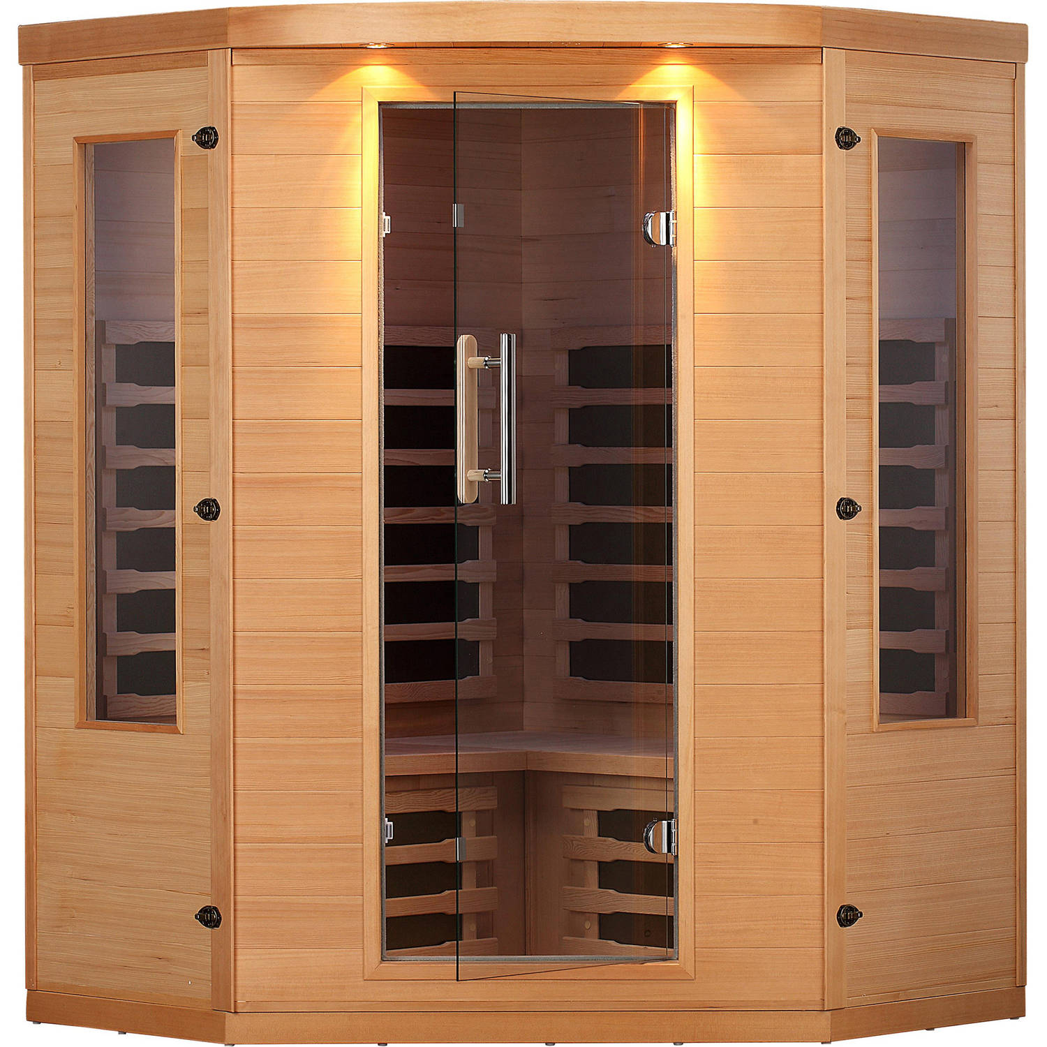 Canadian Spa Co. Aspen 4-Person Far Infrared Corner Sauna by Canadian Spa Company