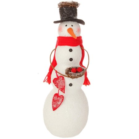 18 alpine chic snowman holding bird nest christmas for Alpine decoration