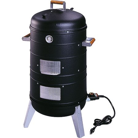 Meco Southern Country Smoker 2-in-1 Outdoor Electric Water Smoker with 2 Levels of Smoking and Combination Portable Grill