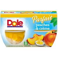(8 Cups) Dole Fruit Bowls Peaches & Creme Parfait, 4.3 oz Cups