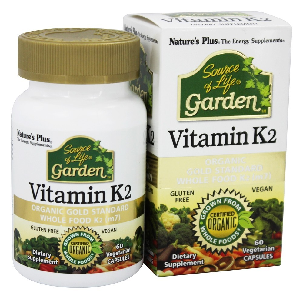 Nature's Plus - Source Of Life Garden Vitamin K2 - 60 Vegetarian Capsules
