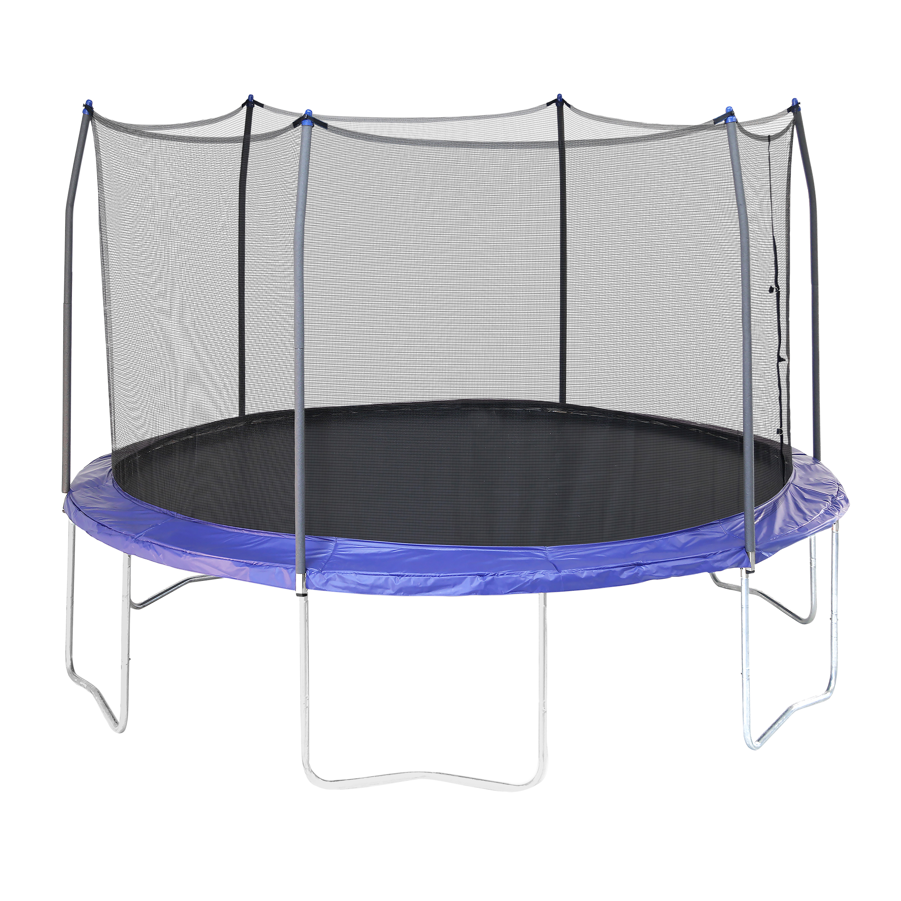Skywalker Trampolines 12' Round Trampoline with Enclosure - Blue