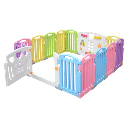 LIVINGbasics™ Baby Playpen Kids Play Yard 14 Panel Activity Centre for Home/Indoor/ Outdoor - image 8 of 8
