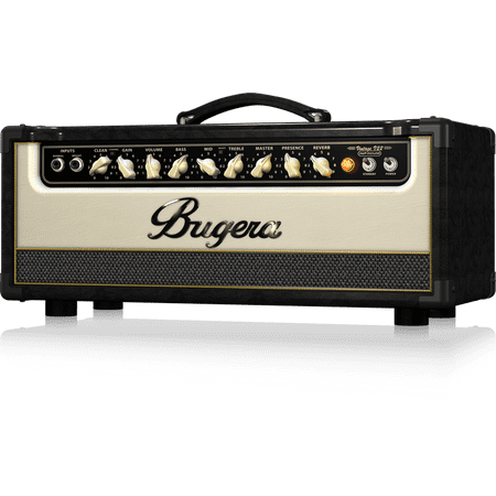 Bugera V22HD INFINIUM 22-Watt Vintage 2-Channel Tube Amplifier Head with INFINIUM Tube Life Multiplier and Reverb