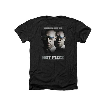 Hot Fuzz Crime Comedy Buddy Cop Movie Big Cops Adult Heather T-Shirt Tee (Hot Female Cops)