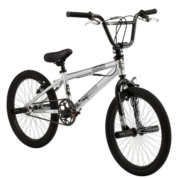 Mongoose Outerlimit BMX Bike, 20 inch wheels, single speed, silver
