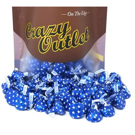- Hershey's Kisses, Milk Chocolate in Blue Star Foils (Pack of 2 Pounds)